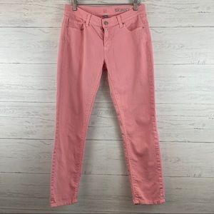 New York & Company Pink Low Rise Skinny Jean